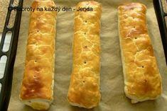 Recept Jendův jablečný štrůdl - Naše Dobroty na každý den   Recepty online Hot Dog Buns, Hot Dogs, Bread, Food, Brot, Essen, Baking, Meals, Breads