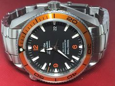 Omega Seamaster Planet Ocean Co-Axial Chronometer 600m Diver Swiss Watch (N737) #Omega #LuxurySportStyles