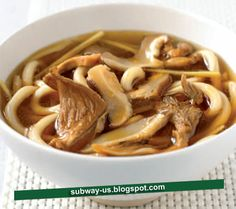 noodle broth with dried mushrooms recipe