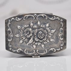 Antique Solid Silver Snuff Box Compact by FrenchQueensRansom, $245.00