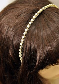 Exquisite Rhinestone Embellished All-match Hairband Gold Hair Band, Fashion Accessories, Hairpin, Elegant, Hair Styles, Gold, Beauty, Dresses, Products