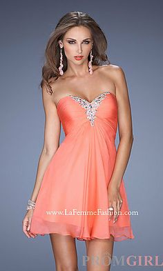 #prom #dress #Paris #coral