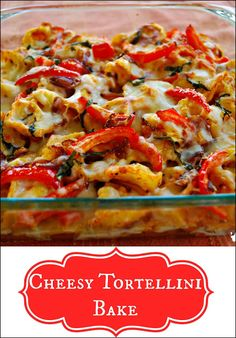 This Cheesy Tortellini Bake is the perfect family friendly for any busy weeknight. #shop
