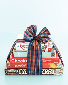 housewarming gift- a few of your favorite board games. A fun hostess gift, too!
