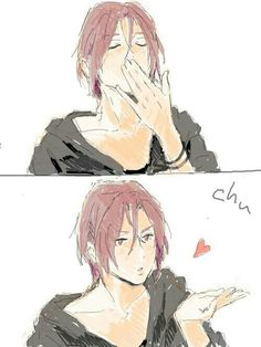 Free! ~~ The Beloved Shark blows you a kiss! :: Matsuoka Rin