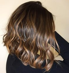 Luscious Balayage With Subtle Purple Tones - 20 Stunning Examples of Mushroom Brown Hair Color - The Trending Hairstyle Brunette Hair Color With Highlights, Brown Hair Balayage, Brown Blonde Hair, Hair Highlights, Dark Hair, Balayage Hair Brunette Medium, Caramel Balayage Highlights, Honey Balayage, Long Brunette