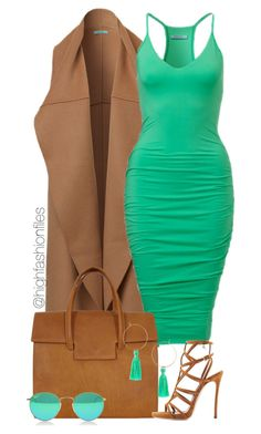 """Seafoam Green"" by highfashionfiles ❤ liked on Polyvore"
