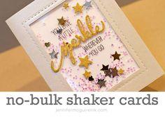 No Bulk Shaker Card Video by Jennifer McGuire Ink