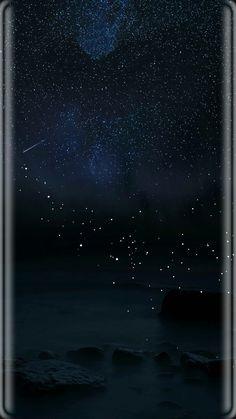 Night sky moon stars
