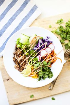 Quick lunch-time Banh Mi Veggie Bowl - Lillie Eats and Tells