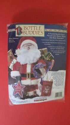 "Dimensions Bottle Buddies Kriss Kringle Christmas Felt Craft Kit 12"" #62154 NIP #Dimensions"