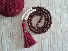 Rosewood Mala Bead Mala Necklace 108 Mala Bead by HandcraftHarmony