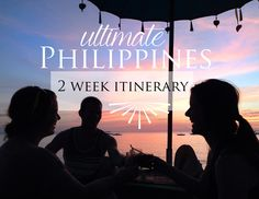 Philippines Itinerary - I would just substitute the time in Boracay for a different island in the vasayas