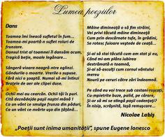 Lumea poeziilor: Dans - Nicolae Labis Beautiful Poetry, Dan