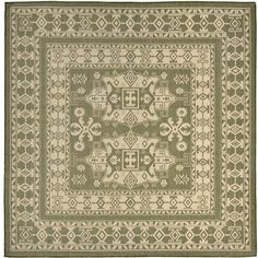 Liora Manne Terrace Kilim Square Rugs - Area Rugs - Green - Green ($220) ❤ liked on Polyvore featuring home, rugs, patio rugs, kilim rugs, liora manne area rug, patio area rugs and kelim rug