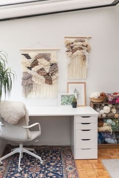 Hanging Forest Studio Space Weaving Wall Hanging, Office Desk, Studio, Space, Furniture, Home Decor, Floor Space, Desk Office, Decoration Home