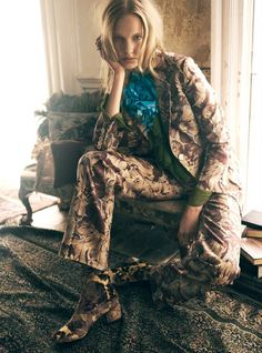 Elisabeth Erm by Regan Cameron for Harper's Bazaar UK October 2015 - GUCCI Fall 2015