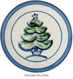 Adore this sweet Christmas Tree pattern from M.A Hadley Pottery, an American made handcrafted pottery company!