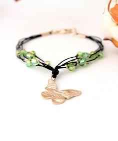 Butterfly Charm Bracelet Sterling Silver