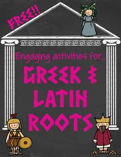 """FREE activities that are perfect Greek and Latin root word study. ....Follow for Free """"too-neat-not-to-keep"""" teaching tools & other fun stuff :)"""