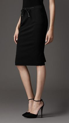 Burberry pencil skirt - a timeless look. A pencil skirt is a wardrobe necessity.