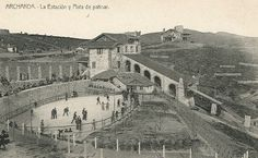 Bilbao, Archanda, skating rink, next to the funicular station. Ca. 1920.
