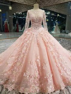 Real Photos Long Sleeveless O Neck Luxury Long Train Lace Beaded Crystals Bow Wedding Dresses 2017 Bridal Dress Gown Pink Wedding Dresses