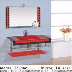 Wholesale wall mounted glass washbasin design,glass washbasin with mirror