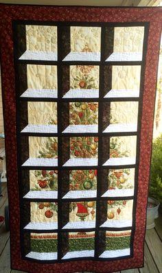 Christmas tree panel attic window