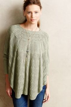 Angel of the North Mirabelle Stitched Poncho #anthrofave #anthropologie