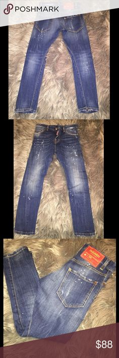 Dsquared Boys Jeans Dsquared boys skinny jean. Excellent condition, worn once! Splattered paint with button front instead of zipper. Size 10yr DSQUARED Bottoms Jeans
