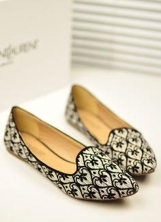 lace flats shoes