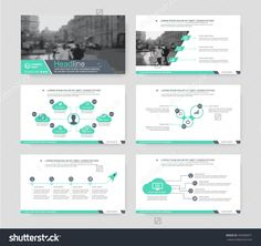 Green elements of infographics for presentations templates. Leaflet, Annual report, book cover design. Brochure, layout, Flyer layout template design. Vector Illustration.
