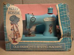 I got this for Christmas sometime in the mid to late 70's.  Vintage Durham Industries 1976 Holly Hobbie Sewing Machine  Toy