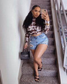 Tomboy Outfits, Cute Casual Outfits, Girl Outfits, Ivy Fashion, Cute Fashion, Night Outfits, Summer Outfits, Instagram Baddie Outfit, Sexy Ebony