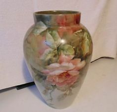 Beautiful B & Co Antique Hand Painted Vase - France - Signed and Dated! 1914