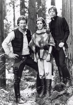 Harrison, Carrie and Mark - Return of the Jedi