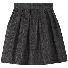 Blackfive Plaid Mid Rise Midi Woolen Skirt (340 MXN) ❤ liked on Polyvore featuring skirts, blackfive, bottoms, tartan skirt, wool skirt, wool plaid skirt, plaid skirt and woolen skirts