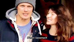 He and Caitriona Balfe really like one another. | 20 Verra Verra Braw Reasons Why Sam Heughan Is The Perfect Jamie Fraser