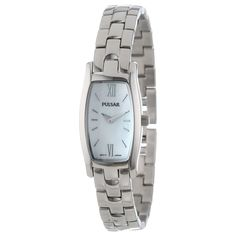 Pulsar PEGF23 Women's Easy Style MOP Dial Stainless Steel Bracelet Watch - Discount Watch Store
