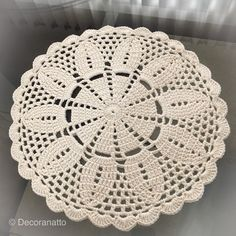 Crochet Doily Rug, Crochet Placemats, Crochet Lace Edging, Crochet Round, Crochet Home, Thread Crochet, Crochet Table Runner, Crochet Boarders, Crochet Applique Patterns Free