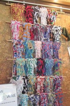 way to display scarves