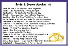 Survival Kit In A Can Bride & Groom Humorous Novelty Gift - Wedding Day/Newlyweds/Marriage/Mr & Mrs/Honeymoon Present & Card All In One. Customise Your Can Colour. Groom Survival Kits, Wedding Survival Kits, Survival Kit Gifts, Survival Bags, Wedding Advice Quotes, Diy Wedding Gifts, Diy Gifts, Personalized Wedding, Personalized Cards