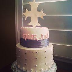 Cross themed Baptism Cake