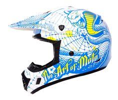 O'Neal Kids Helm 312 Serpent - White/Blue/Yellow 2013