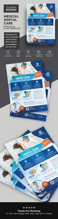 Buy Dental Flyer Template by Creative-Touch on GraphicRiver. This Flyer Template is perfectly suitable for promoting your Business. You can also use this template in multipurpose. Medical Health Care, Medical Dental, Color Photoshop, Facebook Timeline Covers, Business Flyer Templates, Corporate Flyer, Cover Template, Travel Tours, Simple Colors