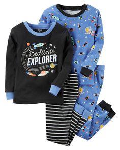 63810642c 4-Piece Glow-In-The-Dark Snug Fit Cotton PJs. Carters Baby ClothesBaby Boy  ...