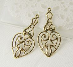 Victorian Antiqued Gold Plated Filigree by alyssabethsvintage, $3.85