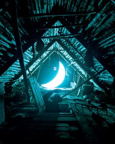 """✯ Russia-based artist Leonid Tishkov and photographer Boris Bendikov have collaborated to created a series titled Private Moon, which chronicles the relationship between a man and the illuminated planet. Tishkov calls this installation a """"visual poem, telling the story about a man who found the Moon and stayed with her for the rest of his life.""""✯"""