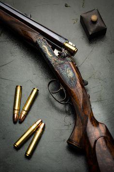 Westley Richards 'Gun Archive' – The Droplock Double Rifle Weapons Guns, Guns And Ammo, Hunting Rifles, Hunting Art, Lever Action Rifles, Gun Art, Bernard Dog, Firearms, Shotguns